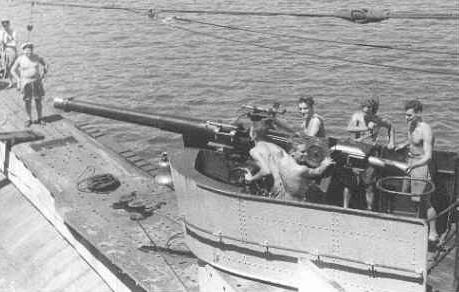 4 inch gun on HMs/m Thrasher